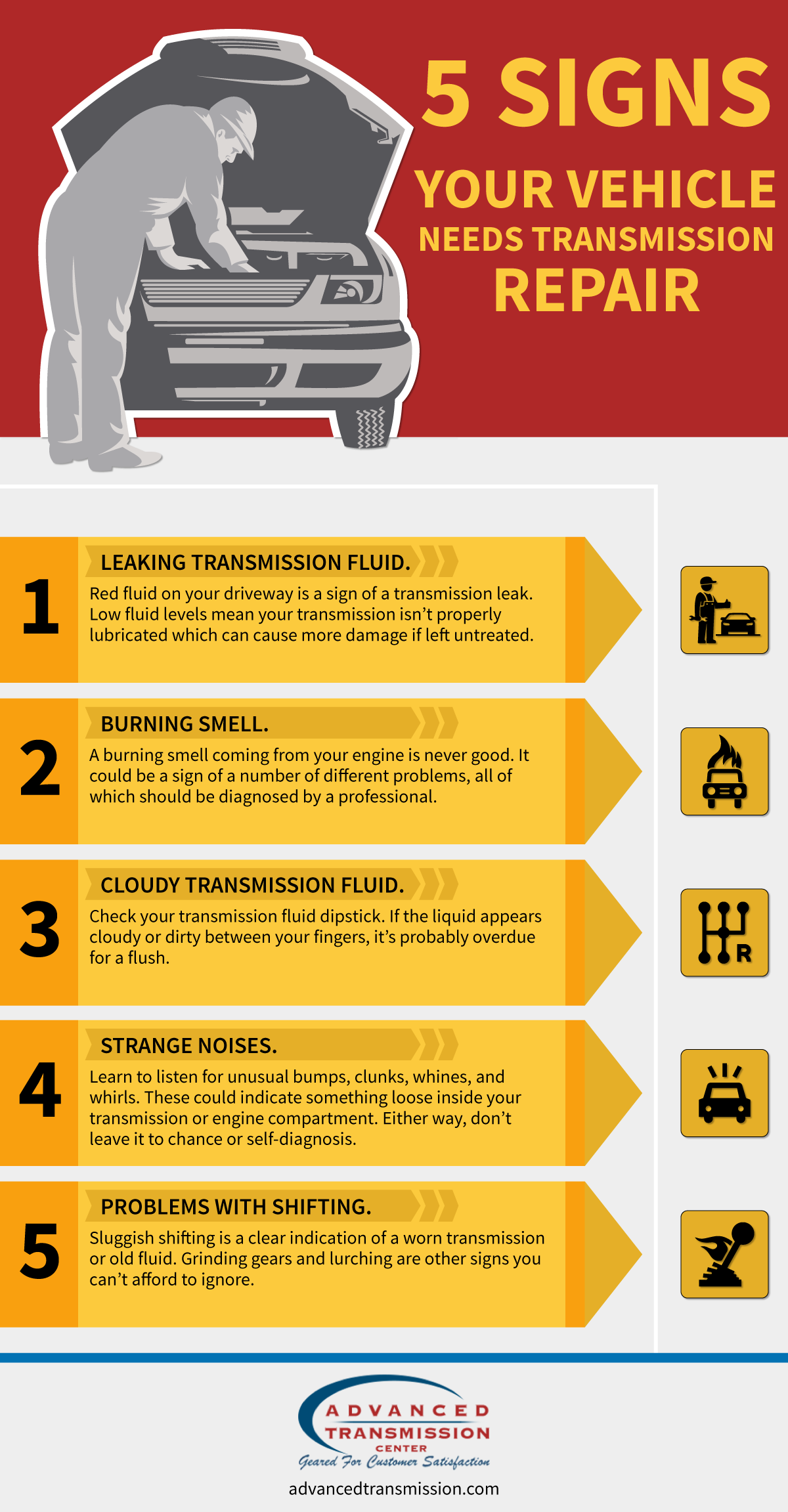 Transmission Slipping Signs >> Vehicle Transmission Repair Advanced Transmission Center