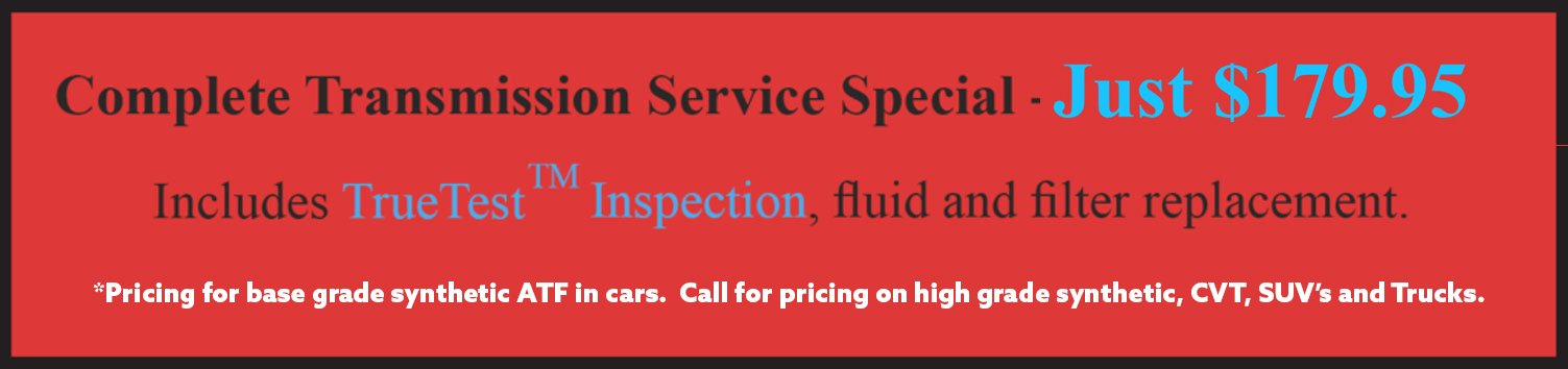transmission repair special offers and deals